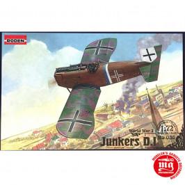 JUNKERS D.I WORLS WAR I SHORT FUSELAGE VERSION RODEN 036