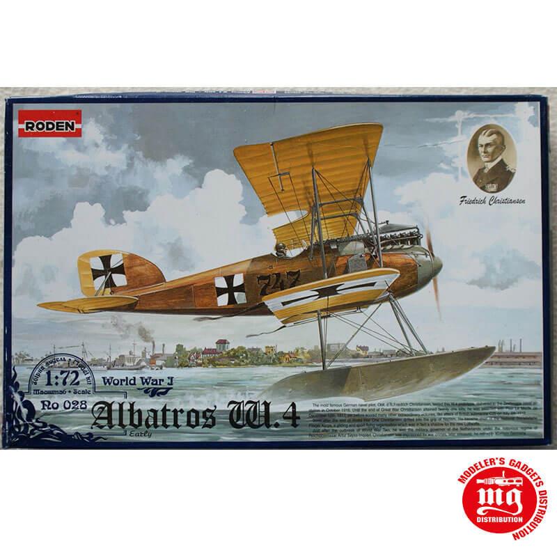 ALBATROS W.4 EARLY WORLD WAR I FRIEDRICH CHRISTIANSEN RODEN 028