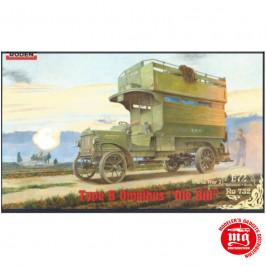 TYPE B OMNIBUS OLE BILL BRITISH BUS WORLD WAR I RODEN 732