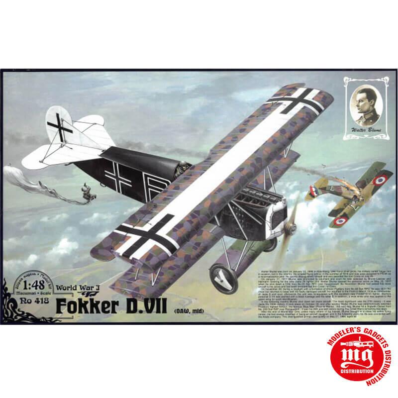 FOKKER D.VII O.A.W. MID WORLD WAR I RODEN 418