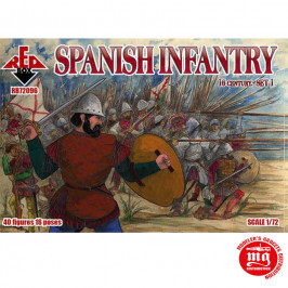 SPANISH INFANTRY XVI CENTURY SET 1 RED BOX RB72096