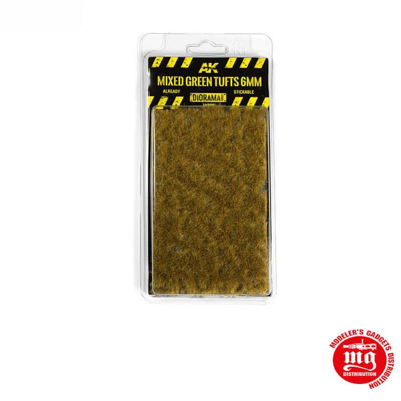 MIXED GREEN TUFTS 6MM AK8119