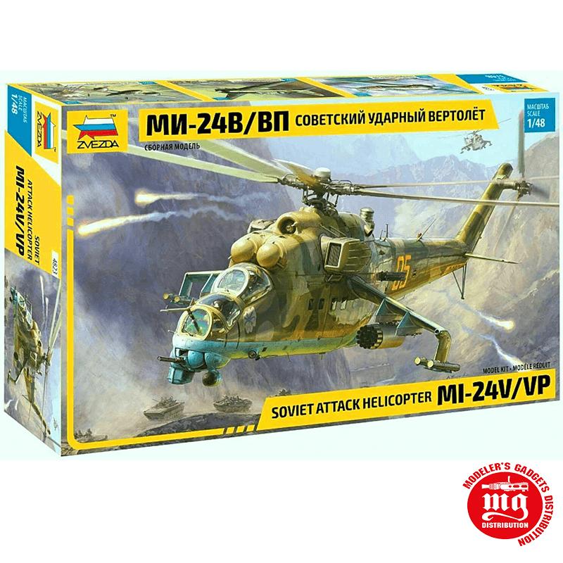 HELICOPTERO DE ATAQUE SOVIETICO Mi-24V VP ZVEZDA 4823