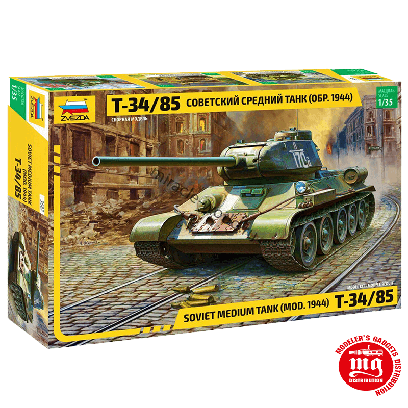 TANQUE MEDIO SOVIETICO T34/85 MODELO 1944 ZVEZDA 3687 ESCALA 1:35