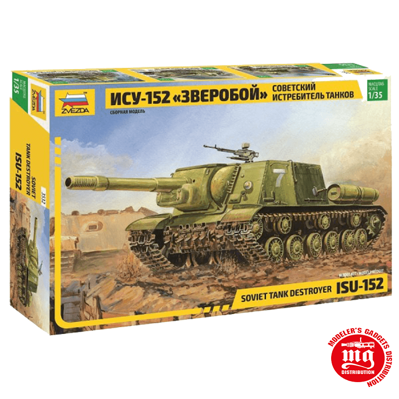 DESTRUCTOR DE TANQUES SOVIETICO ISU-152 ZVEZDA 3532 ESCALA 1:35