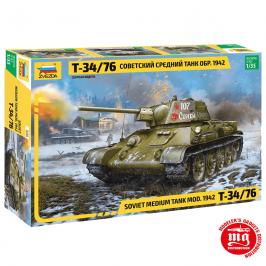 T-34/76 MODELO 1942 TANQUE MEDIO SOVIETICO ZVEZDA 3686