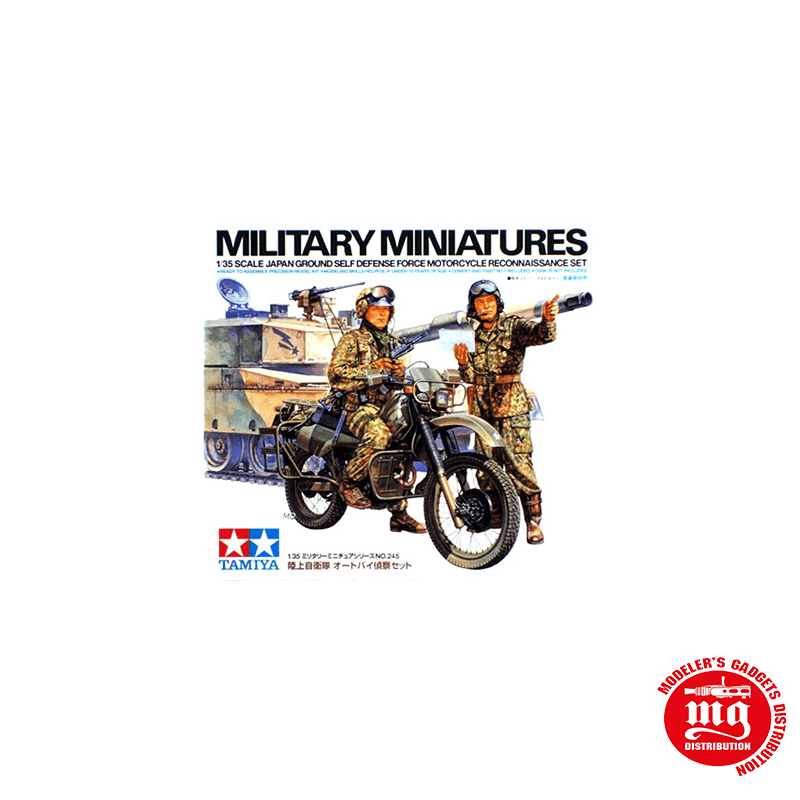JAPAN GROUND SELF DEFENSE FORCE MOTORCYCLE RECONNAISSANCE SET TAMIYA 35245