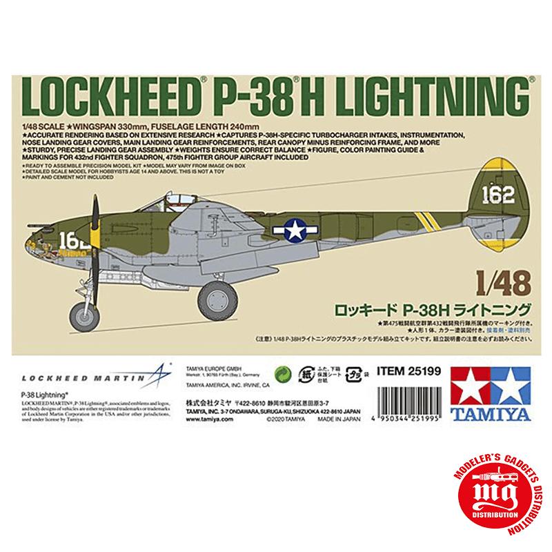 LOCKHEED P-38H LIGHTNING TAMIYA 25199