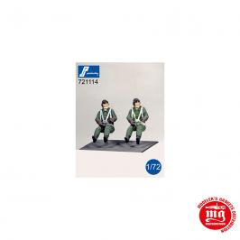 PILOTOS JAPONESES DE LA SEGUNDA GUERRA MUNDIAL SENTADOS PJ PRODUCTIONS 721114