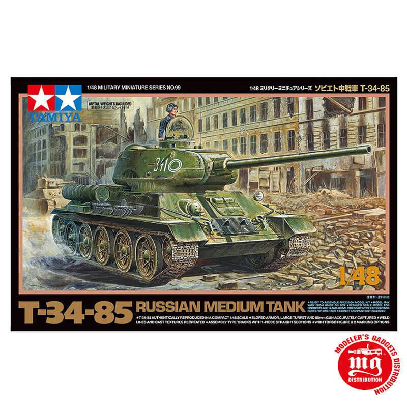 T-34-85 RUSSIAN MEDIUM TANK TAMIYA 32599 ESCALA 1:48