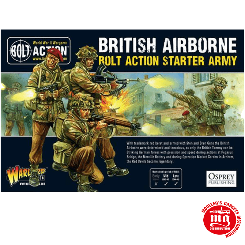 BRITISH AIRBORNE BOLT ACTION STARTER ARMY WARLORD GAMES 409911101