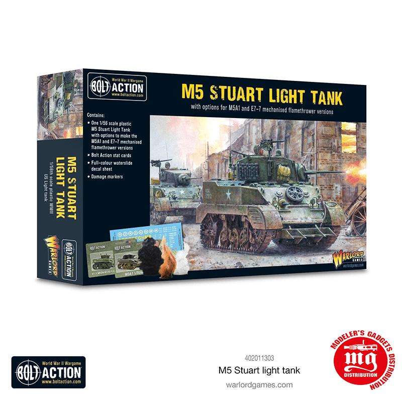 M5 STUART LIGHT TANK WARLORD GAMES 402011303