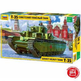 T-35 TANQUE PESADO SOVIETICO ZVEZDA 3667 ESCALA 1:35