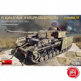1/35 Pz.Kpfw.IV Ausf.H KRUPP GRUSONWERK MID PRODUCTION AUGUST SEPTEMBER 1943 INTERIOR KIT MINIART 35330