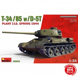 1/35 T-34/85 WITH D-5T PLANT 112. SPRING 1944 MINIART 35293