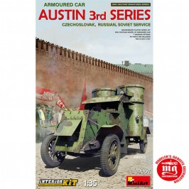 1/35 ARMOURED CAR AUSTIN 3rd SERIES CZECHOSLOVAK RUSSIAN SOVIET  SERVICE INTERIOR KIT MINIART 39007