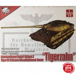 1/35 GERMAN HEAVY TANK E-75 AUSF.E TIGER III 12.8cm L/55 WITH ADDITIONAL ARMOR TIGERZAHN MODELCOLLECT UA35016