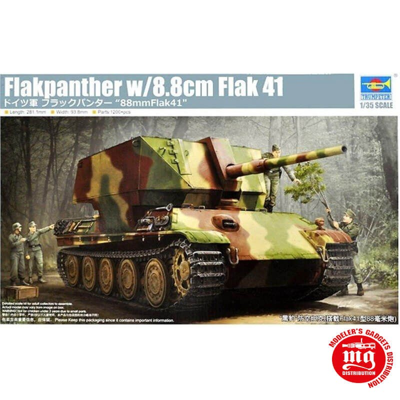 1/35 GERMAN FLAKPANTHER WITH 8.8cm FLAK 41 TRUMPETER 09530 ESCALA 1:35