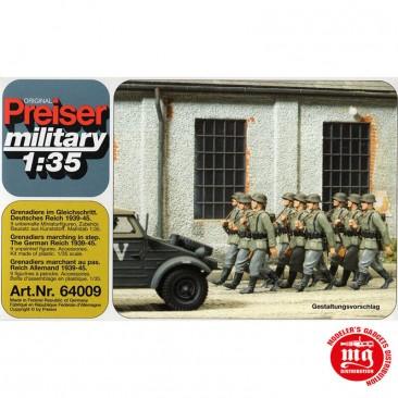 1/35 GRANADEROS ALEMANES MARCHANDO AL PASO 1939-1945 PREISER 64009