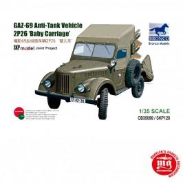 1/35 GAZ-69 ANTI TANK VEHICLE 2P26 BABY CARRIAGE BRONCO CB35099