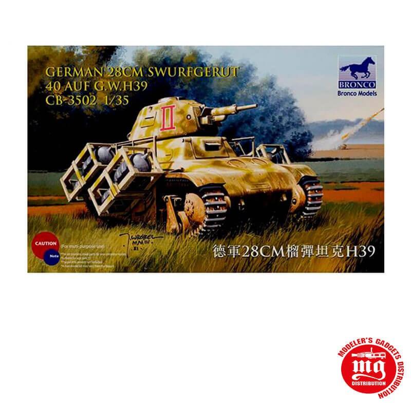 1/35 GERMAN 28CM SWURFGERAT 40 AUF G.W.H39 BRONCO CB35002