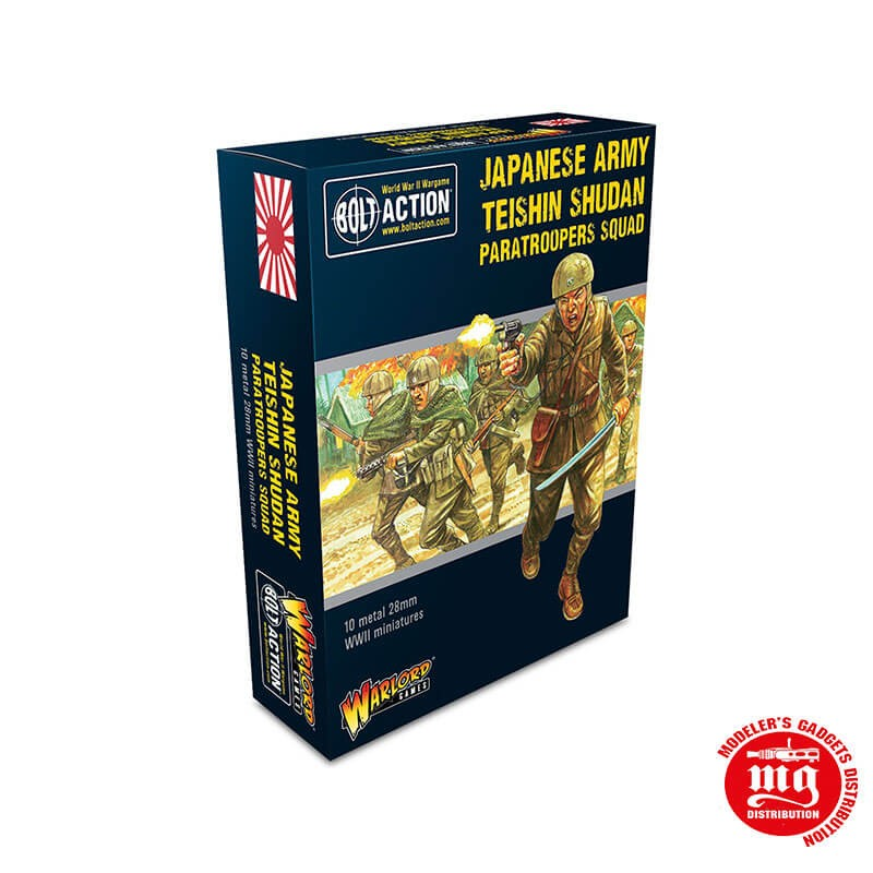 JAPANESE ARMY TEISHIN SHUDAN PARATROOPERS SQUAD BOLT ACTION WARLORD GAMES 402216002