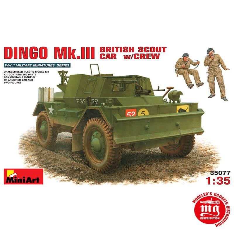DINGO Mk.III BRITISH SCOUT CAR WITH CREW MINIART 35077 ESCALA 1/35