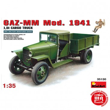 SOVIET GAZ-MM MODEL 1941 1.5t CARGO TRUCK MINIART 35130 ESCALA 1/35