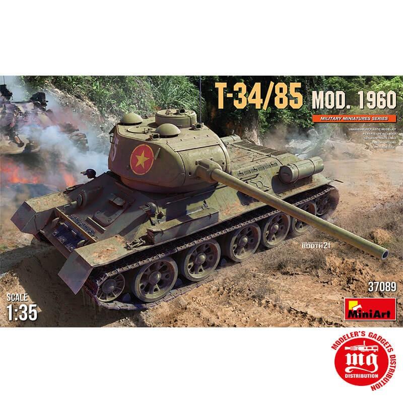 T-34/85 MODEL 1960 MINIART 37089 ESCALA 1/35