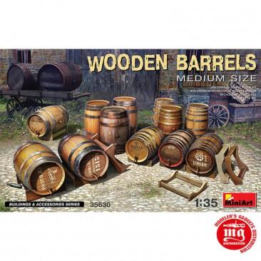 WOODEN BARRELS MEDIUM SIZE MINIART 35630 ESCALA 1/35