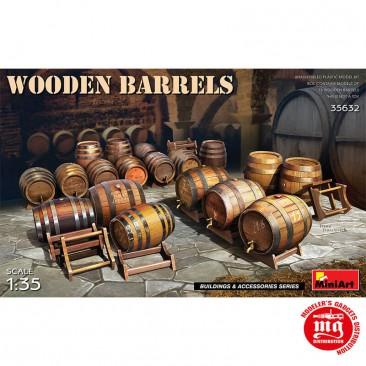WOODEN BARRELS MINIART 35632 ESCALA 1/35
