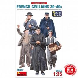 CIVILES FRANCESES AÑOS 30 Y 40 CON CABEZAS DE RESINA MINIART 38037 ESCALA 1/35