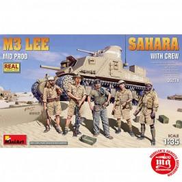 M3 LEE MID PRODUCTION SAHARA WITH CREW MINIART 35274 ESCALA 1/35