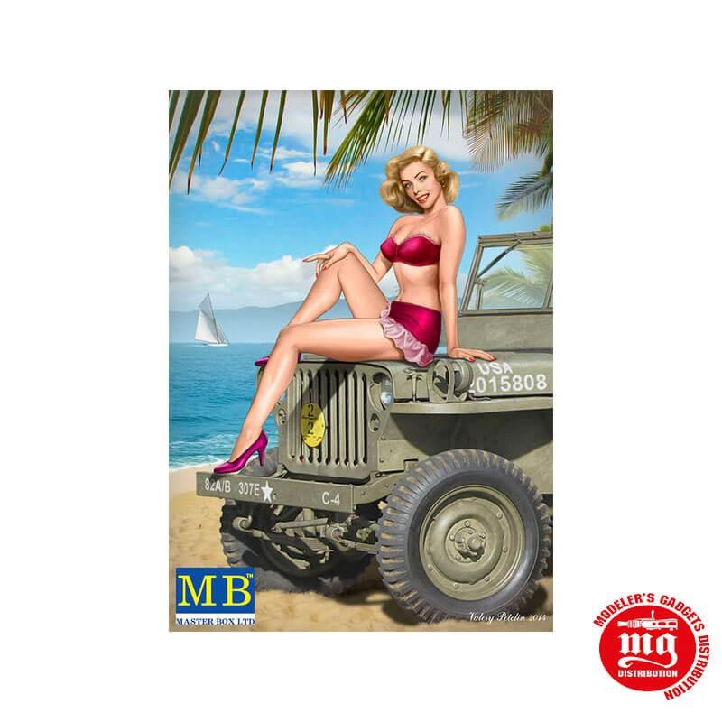 SERIE PIN UP KIT Nº6 SAMANTHA MASTER BOX MB24006 ESCALA 1/24