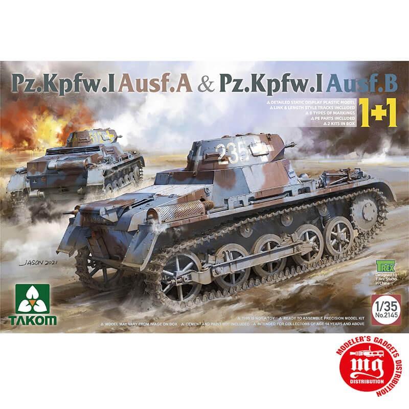 Pz.Kpfw.I Ausf.A y Pz.Kpfw.I Ausf.B 1+1 TAKOM 2145 ESCALA 1/35