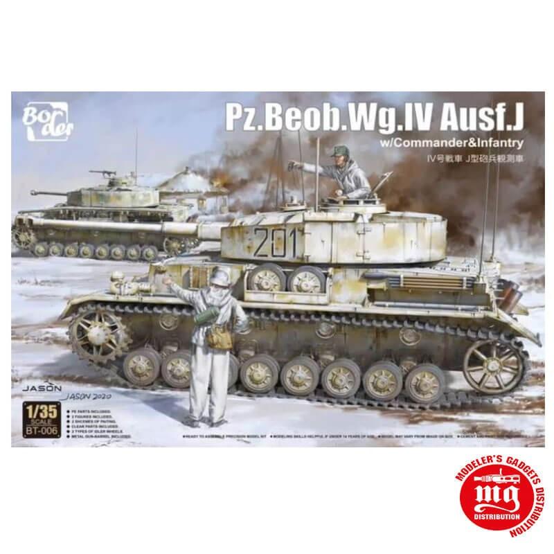 Pz.Beob.Wg.IV Ausf.J CON COMANDANTES Y SOLDADO DE INFANTERIA BORDER MODEL BT-006 ESCALA 1/35