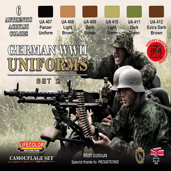 GERMAN WWII UNIFORMS SET 2 LIFECOLOR CS05