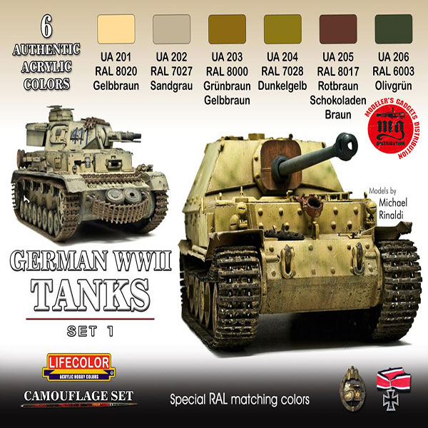 GERMAN WWII TANKS SET 1 LIFECOLOR CS01