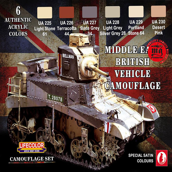 MIDDLE EAST BRITISH VEHICLE CAMOUFLAGE LIFECOLOR CS16