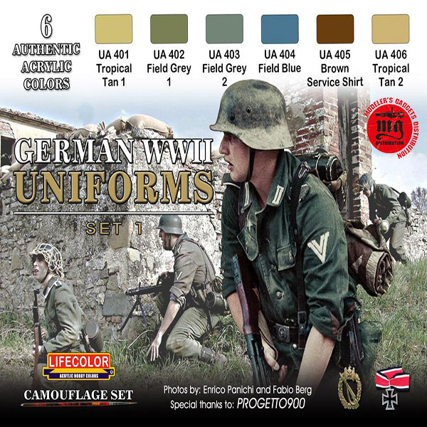 GERMAN WWII UNIFORMS SET 1 LIFECOLOR CS04