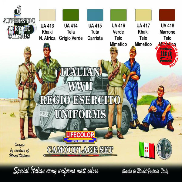 ITALIAN WWII REGIO ESERCITO UNIFORMS LIFECOLOR CS14