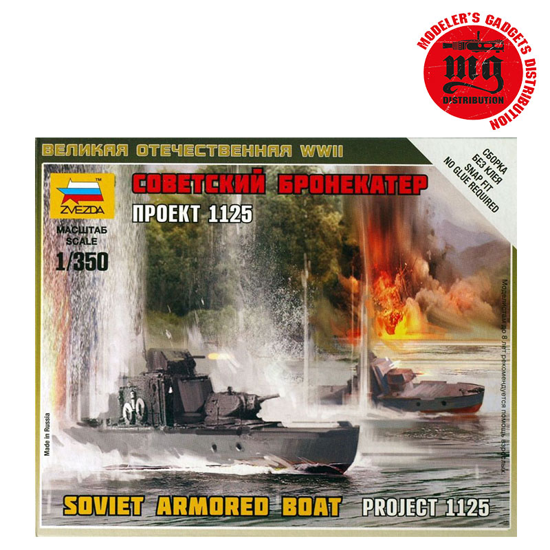 BOTE ARMADA SOVIETICA PROYECTO 1125 1/350 ZVEZDA 6164