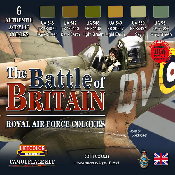 THE BATTLE OF BRITAIN ROYAL AIR FORCE COLOURS LIFECOLOR CS35