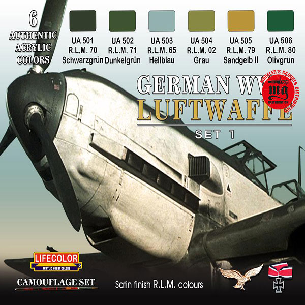 GERMAN WWII LUFTWAFFE SET 1 LIFECOLOR CS06