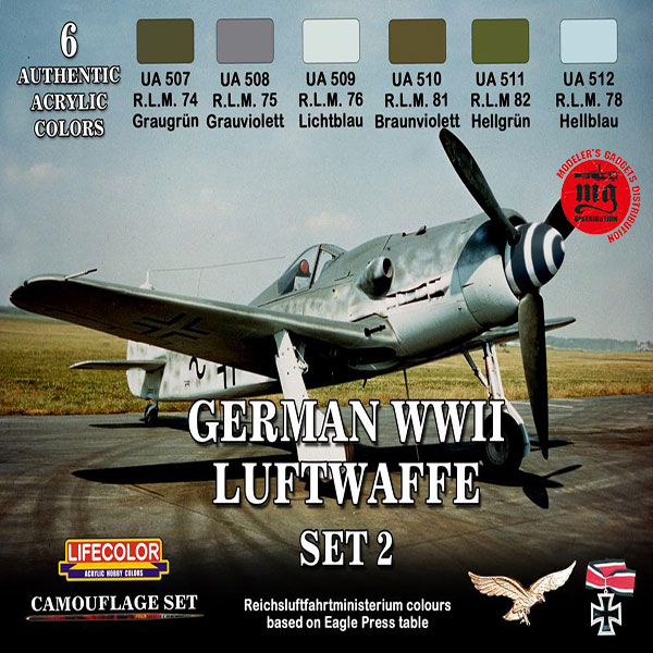 GERMAN WWII LUFTWAFFE SET 2 LIFECOLOR CS07