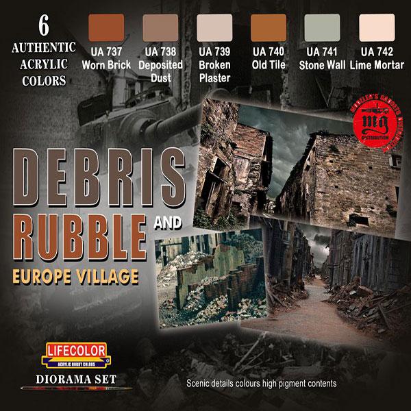 DEBRIS AND RUBBLE EUROPE VILLAGE LIFECOLOR CS31
