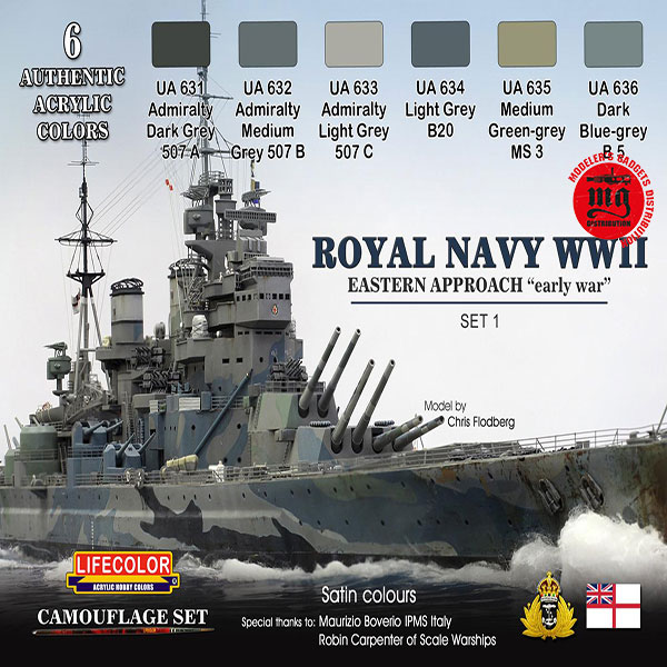 ROYAL NAVY WWII EASTERN APPROACH EARLY WAR SET 1 LIFECOLOR CS33