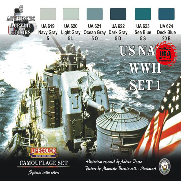 US NAVY WWII SET 1 LIFECOLOR CS24