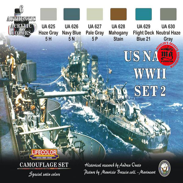 US NAVY WWII SET 2 LIFECOLOR CS25