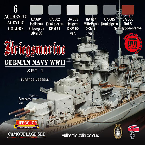 KRIEGSMARINE GERMAN NAVY WWII SET 1 LIFECOLOR CS09